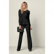 Belted Pant Suit SET Pants - Black