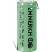 Acumulator NiMH cu urechi de lipire Z, 4/5 A, 1,2 V, 1800 mAh, Emmerich