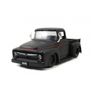 1956 Ford F-100 Pickup 1/24 Primer Black w/ Black Rims