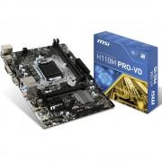 Matična ploča MSI Mainboard H110M PRO-VD LGA1151 mATX Baza Intel® 1151 Faktor oblika Micro-ATX Set čipova matične ploče Inte