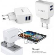 LDNIO AC56 2 poorten Oplader 2.1A met 1 Meter Micro USB Kabel geschikt voor o.a CAT S31 S41