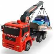 Camion de tractare Dickie Toys Crane Truck cu 1 masinuta