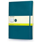 Moleskine Notebook Extra Large Plain Underwater Blue Soft Blauw - 19 cm x 25 cm