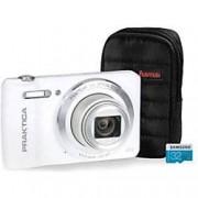Praktica Digital Camera Luxmedia Z212 20 Megapixel White + 32GB Micro SD Card + Case