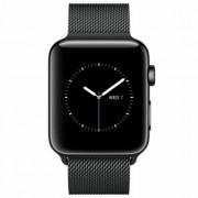Apple Watch Series 2 38mm Stainless Steel Case Black Milanaise Loop Negru