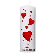 Valentijn kaars 70x200 - Be mine valentine!