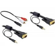 Cablu SVGA, 15tata-15tata+audio 3 m Delock