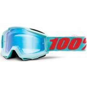 100% Accuri Extra Maldives Motocross Goggles Blue Orange One Size
