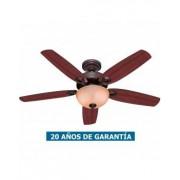 Hunter Ventilador De Techo Con Luz Hunter 50572 Builder Deluxe 132 Cereza Brasileña O Nogal Amarillo / Nuevo Bronce