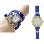 New Love Belt Blue Leather Belt Watch For Women