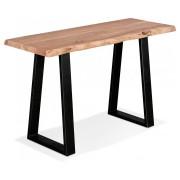 Console style industriel 'RAFA CONSOLE' en bois massif et métal