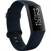 Bratara fitness Fitbit Charge 4, HR, IP67, NFC, Black Aluminum Case, Storm Blue Band