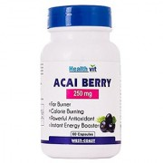 Healthvit Acai Berry 250mg 60 Capsules