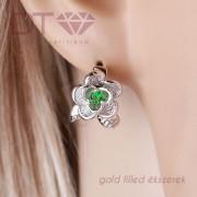 Rose W Green & White fülbevaló
