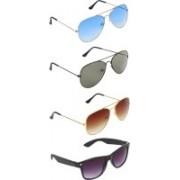 Zyaden Aviator, Aviator, Aviator, Wayfarer Sunglasses(Blue, Green, Brown, Black)