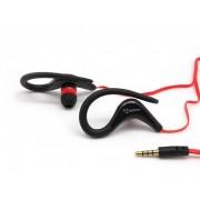 """Auricolari Audio Stereo 3.5"""" con Microfono Nero"""