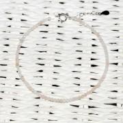 Bratara opal roz pietre micro fatetate 2mm si argint 925