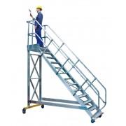 Günzburger Steigtechnik Günzburger Plattformtreppe fahrbar 45° Stufenbreite 600mm 14 Stufen