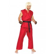 Leg Avenue Street Fighter Ken Costume Red 85082