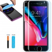 Folie sticla cu gel UV pentru iPhone 7 Plus / 8 Plus