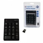 Tastatura Wireless Numerica Logilink ID0120 USB Negru