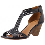 Clarks Women's Ranae Monique Black Leather Fashion Sandals - 6 UK