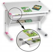 CARO-Möbel Kinderschreibtisch PHILIPP höhenverstellbar in weiß mit Schublade