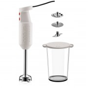 Bodum BISTROSET Set pied mixeur électrique, avec accessoires, 300 W Blanc crème