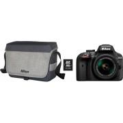 Nikon »D3400 Kit AF-P 18-55« spiegelreflexcamera (AF-P DX NIKKOR 18-55 mm f/3.5-5.6G VR, 24,2 MP)