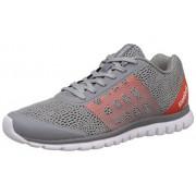 Reebok Men's Sublite Smooth Flat Grey, Flux Orange and White Running Shoes - 9 UK
