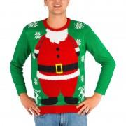 Xenos Kersttrui Santa met verlichting - XS/S