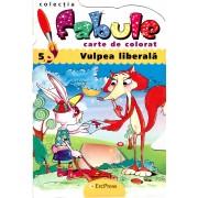 Carte de colorat - Vulpea Liberala