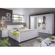 COLOSSEO Schlafzimmer Kiefer massiv weiß