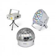 Ibiza BAT-KIT Lichteffekt-Set Liberty Astro-Effekt Firefly Laser PAR-Strahler