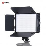 Tolifo PT-15B II Pro with Barn Door Ultra-thin Bi-color 3200K-5600K 144pcs LED Light Fill-in On-camera Panel Lamp - Lampa bi-colora
