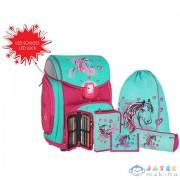 Spirit: Lovas Kék-Pink 5Db-os Iskolatáska Szett Kiegészítőkkel Led Fénnyel (Spirit, 407852)