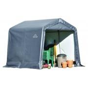 Shelter-Logic Foliengerätehaus 5,76 m² grau, 240 x 240 cm