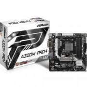 Дънна платка ASRock A320M Pro4, AMD A320, AM4, DDR4, PCI-E(HDMI&DVI), 4x SATA 6Gb/s, 1x Ultra M.2 Socket, 1x M.2 Socket, 1x USB 3.0 Type-C, microATX