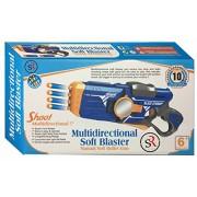 Multidirectional Soft Blaster Manual Soft Bullet Gun Kids Play Safe Gun Foam Bullets for Safety Shooting Indoor Children Playing