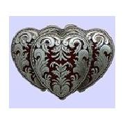 Hebilla triple corazon