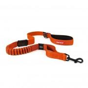 EzyDog Zero Shock Riem - Schokabsorberende hondenriem - Oranje - Size: Large