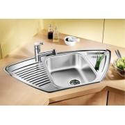 BLANCO TIPO 9E rozsdamentes mosogatótálca - natúr