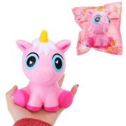 Cartoon Squishy Unicorn 15CM Jumbo Slow Rising Phone Strap Pendant Kid Toy With Packaging