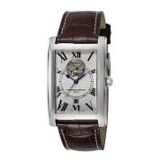 【43%OFF】レクタンギュラーウォッチ デイト オープンハート 型押しレザーベルト フェイス:ホワイト ファッション > 腕時計~~メンズ 腕時計