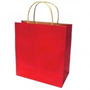 Sacose din Hartie Model Rosu, 25x9.5x30 cm, 100 Buc/Bax, Plase pentru Cadouri