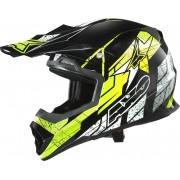 AXO Tribe Motocross hjälm Svart Gul XL