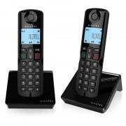 Alcatel Telefone Alcatel S250 Duo DECT Preto