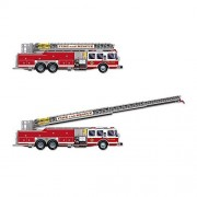 Beistle Party Decoration Accessory Fire Truck With Jointed Ladder 5' Pack Of 12