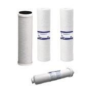 Set cartuse RO4 cu 4 cartuse-Pentru Purificatoare cu OSMOZA INVERSA