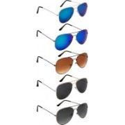 NuVew Aviator Sunglasses(Black, Blue, Brown, Grey, Green, Blue, Violet)